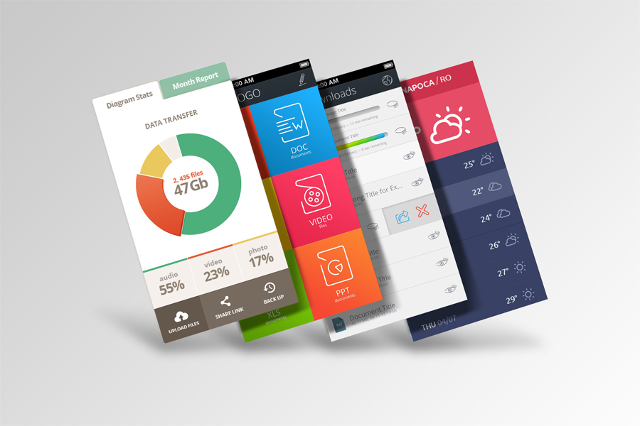 Mobile App Mock-Ups example image 2