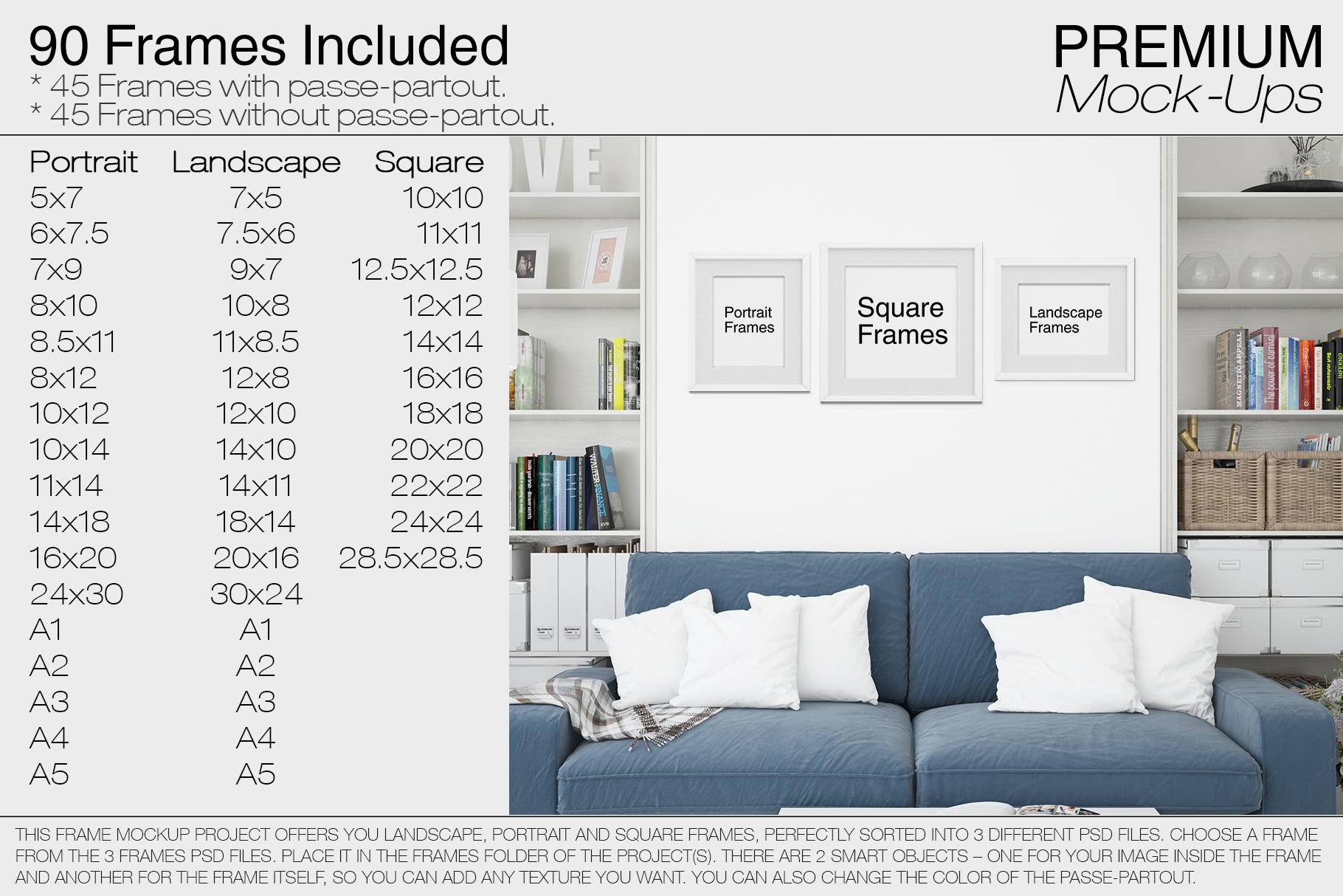 Pillows & Frames Mockup Set example image 3