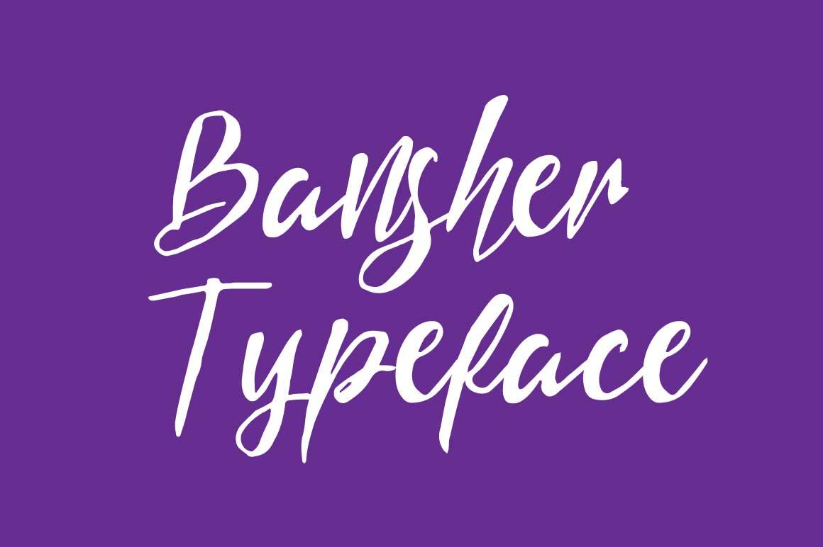 Bansher Typeface example image 1