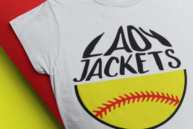 softball mom SVG softball svg, yellow jackets lady jackets example image 1