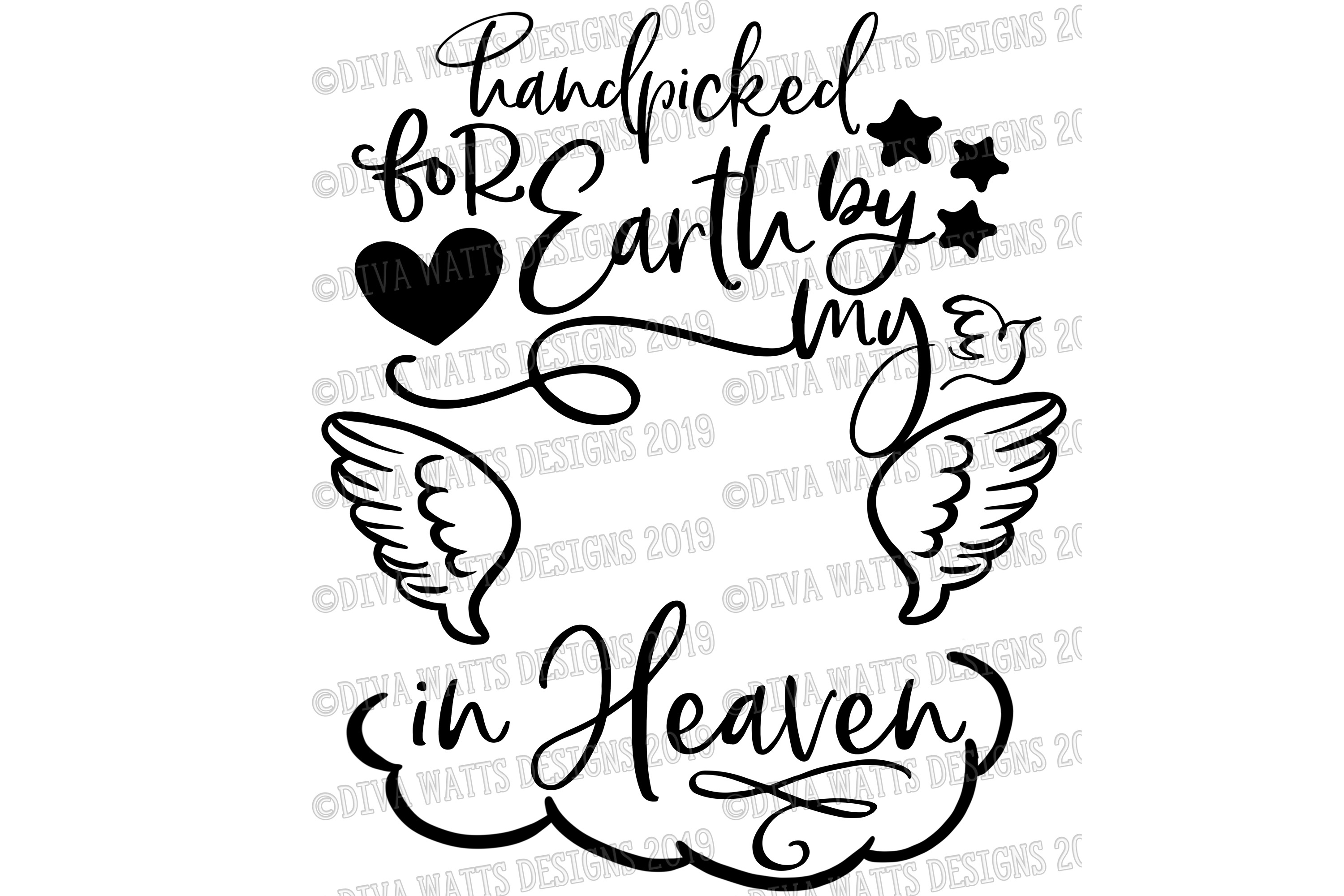 Handpicked for Earth by my Sibling in Heaven Rainbow Baby example image 4
