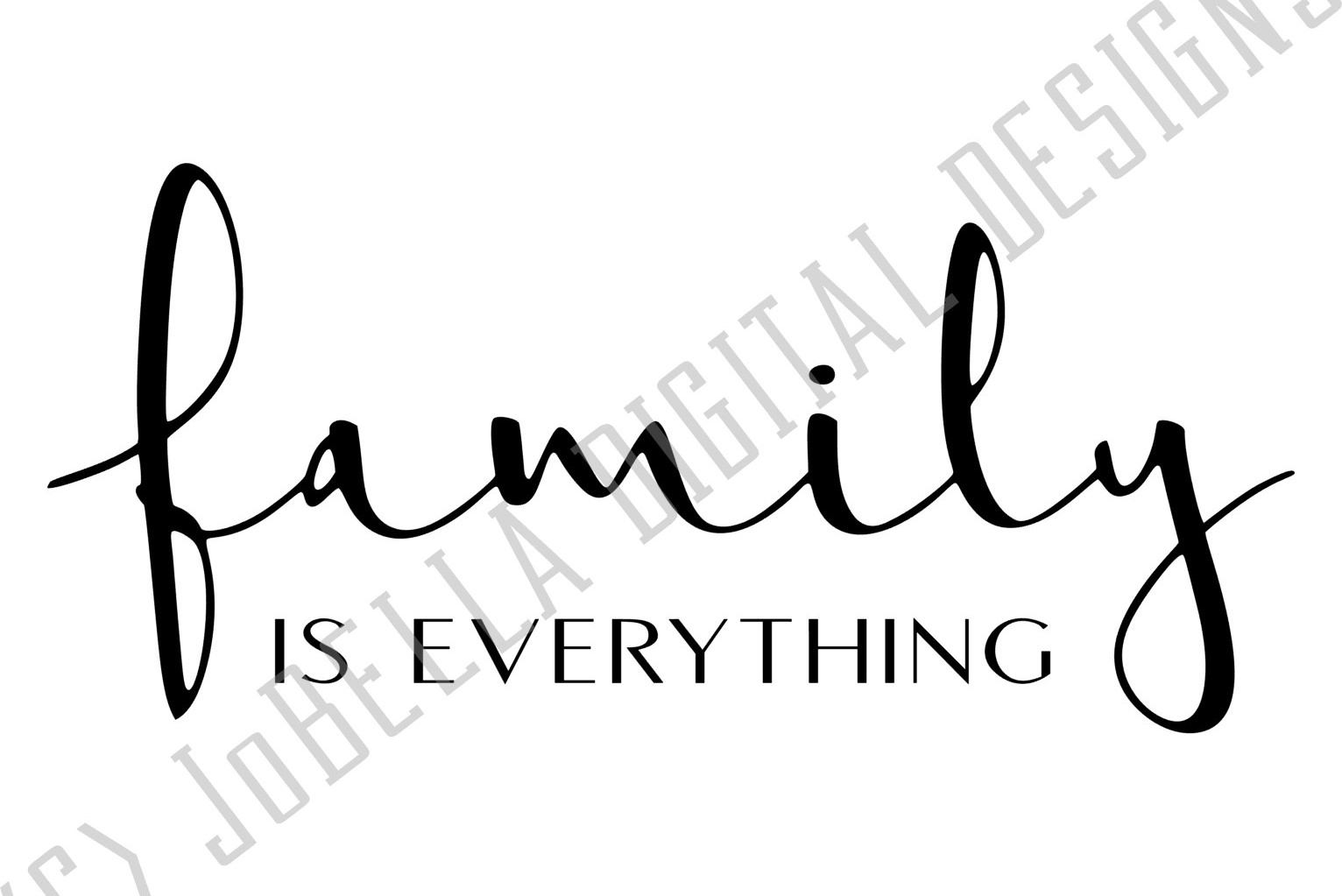 Family Is Everything SVG, Sublimation Design and Printable example image 2