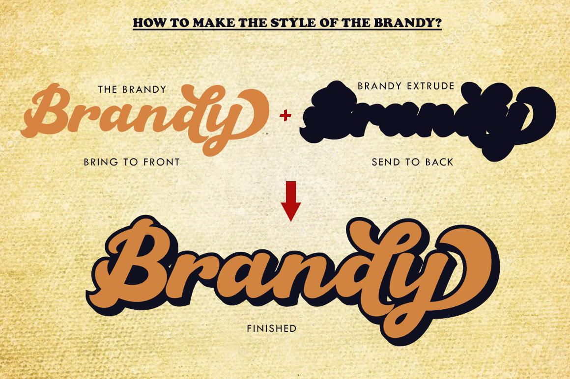 The Brandy Bold Retro Script example image 4
