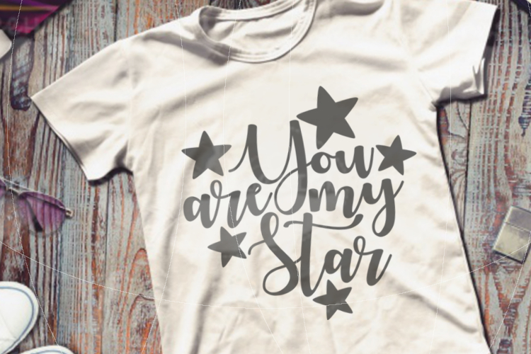File You are my Star for Cutting Lasercut Print SVG PDF EPS example image 5