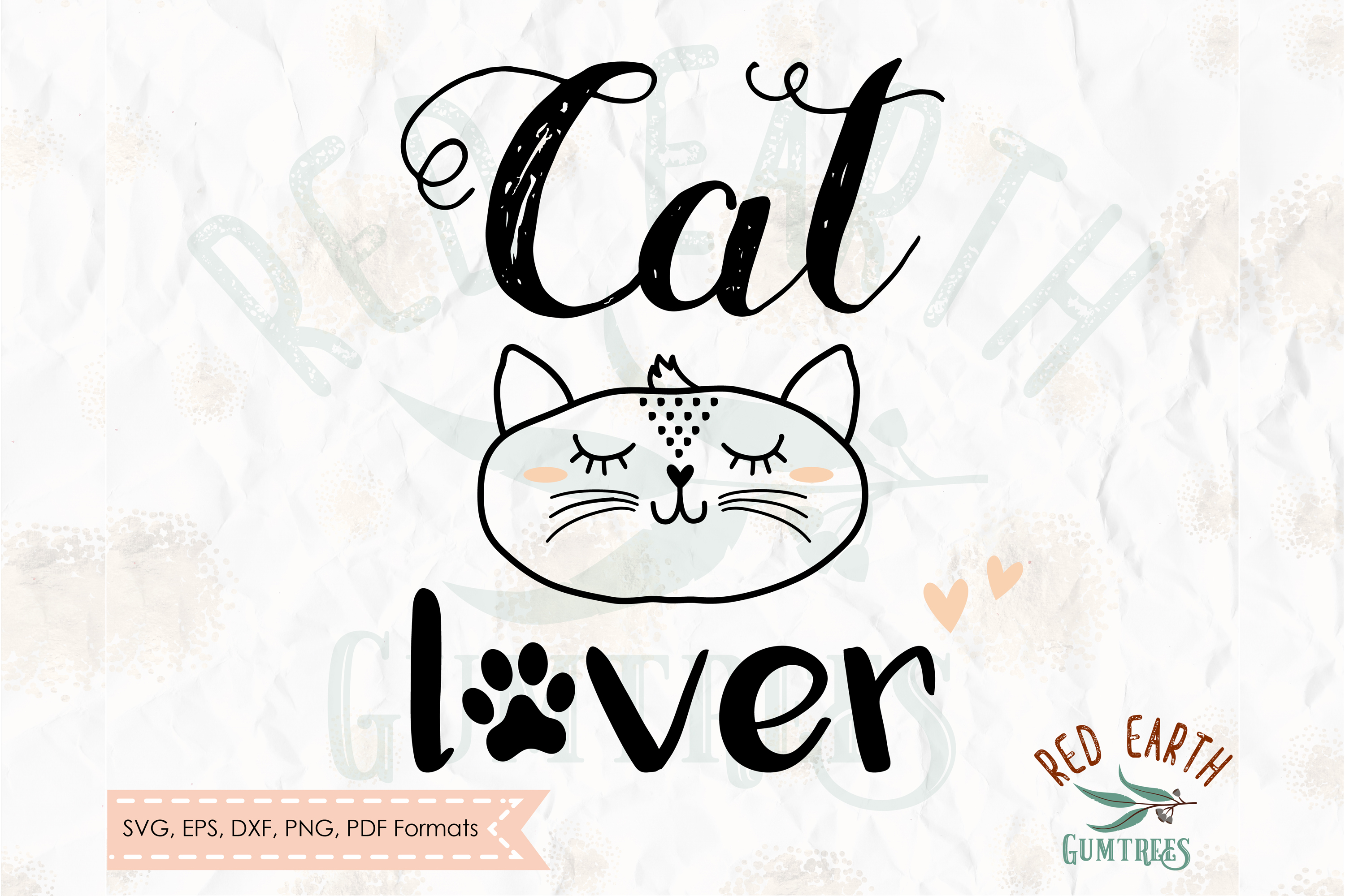 Cat lover, cat with lashes in SVG,DXF,PNG,EPS, PDF formats example image 2