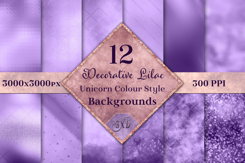 Decorative Lilac Unicorn Colour Style Backgrounds Textures example image 1