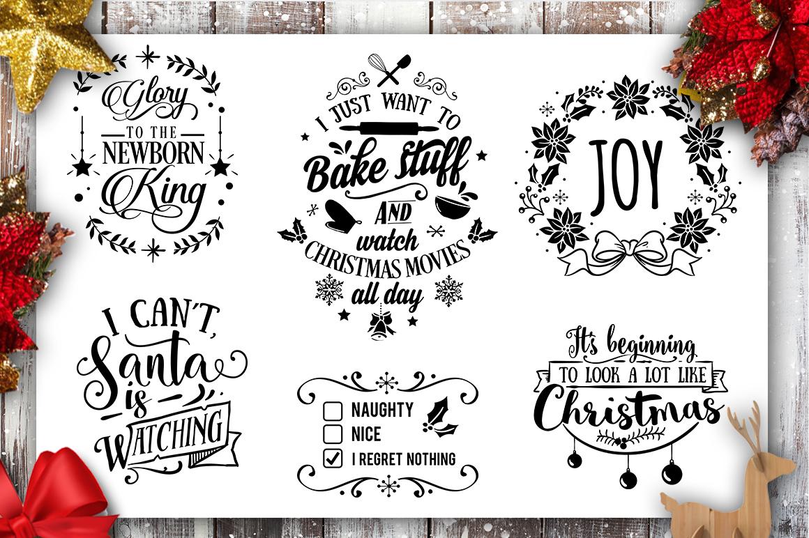 Christmas Bundle SVG bundle 40 designs Winter SVG example image 6