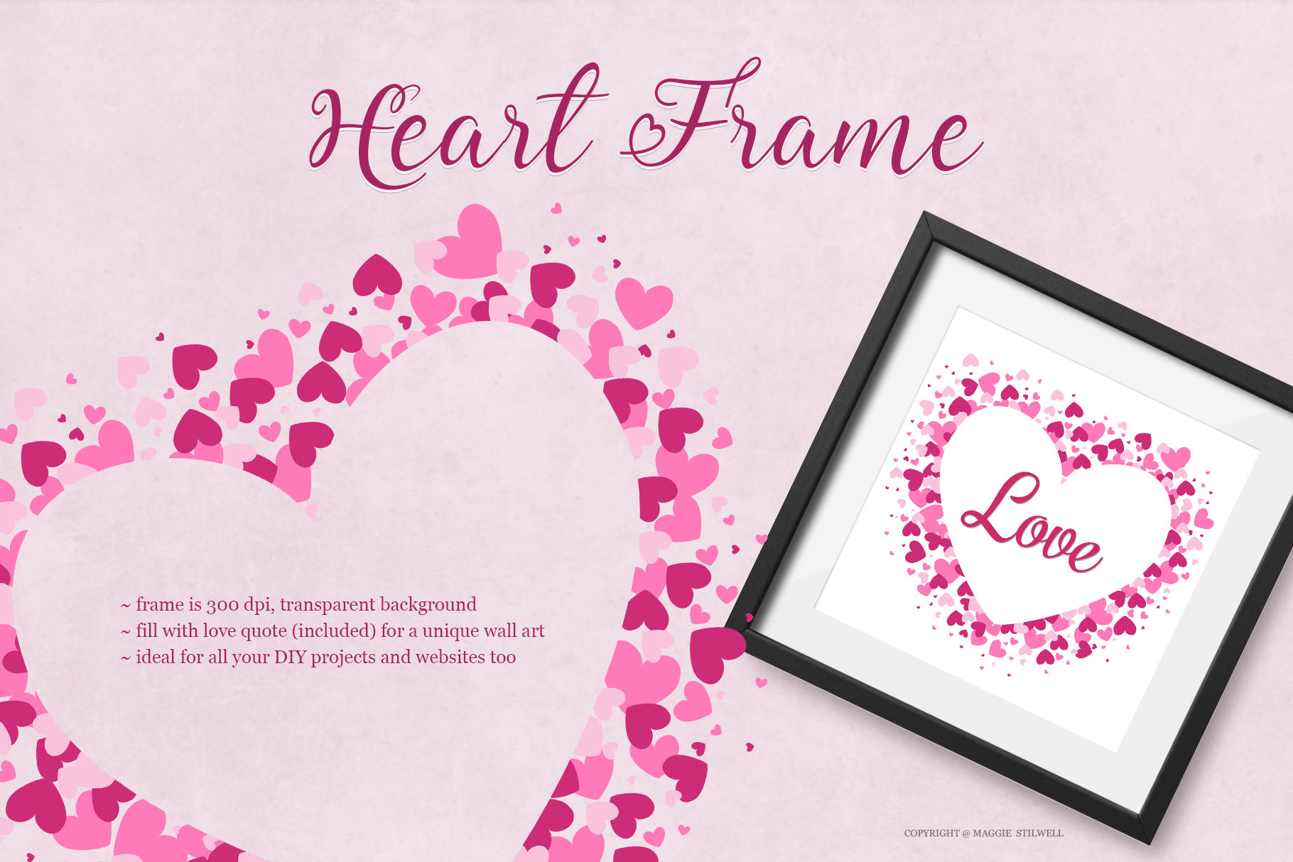 All Hearts Clipart Set example image 4