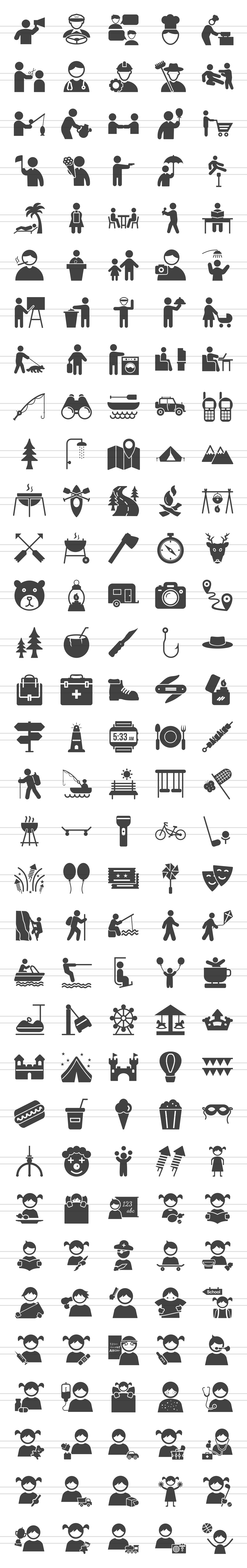 166 Activities Glyph Icons example image 2
