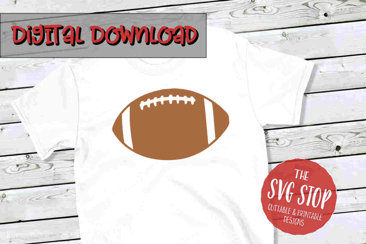 Football -SVG, PNG, DXF example image 1