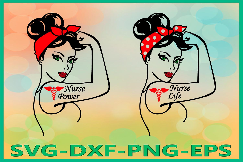 Rosie SVG, Nurse Life SVG, Nurse Power Svg, Nurse Life Rosie example image 1