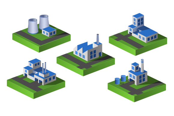 Set of industrial vector  icons example image 1