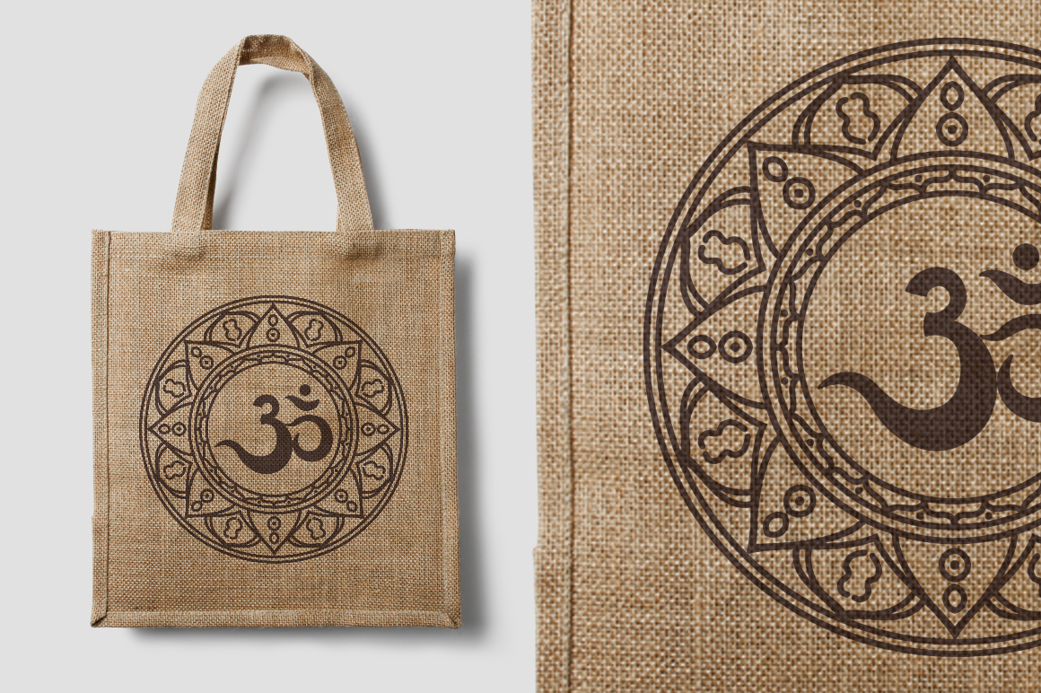 The sacred symbol Om, Mandala. Set. example image 5