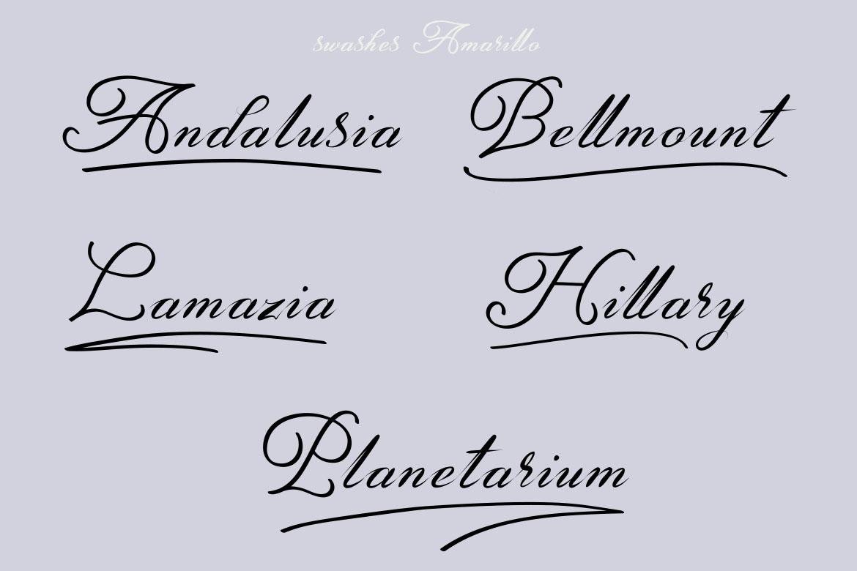 Amarillo | Elegant Calligraphy example image 6