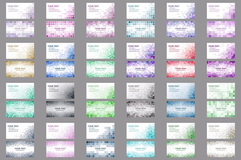 50x2 mosaic design business card templates (EPS, AI, JPG 5000x5000) example image 3