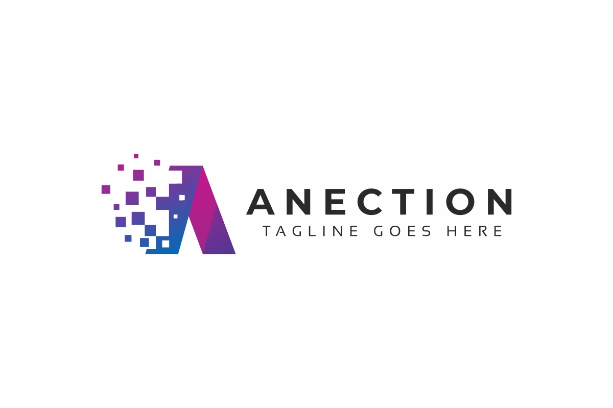 Anection A Letter Logo example image 2