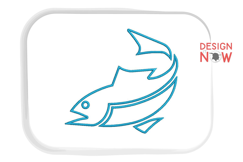 Fish Applique Design, Fish Embroidery Pattern, Sea, Ocean example image 4