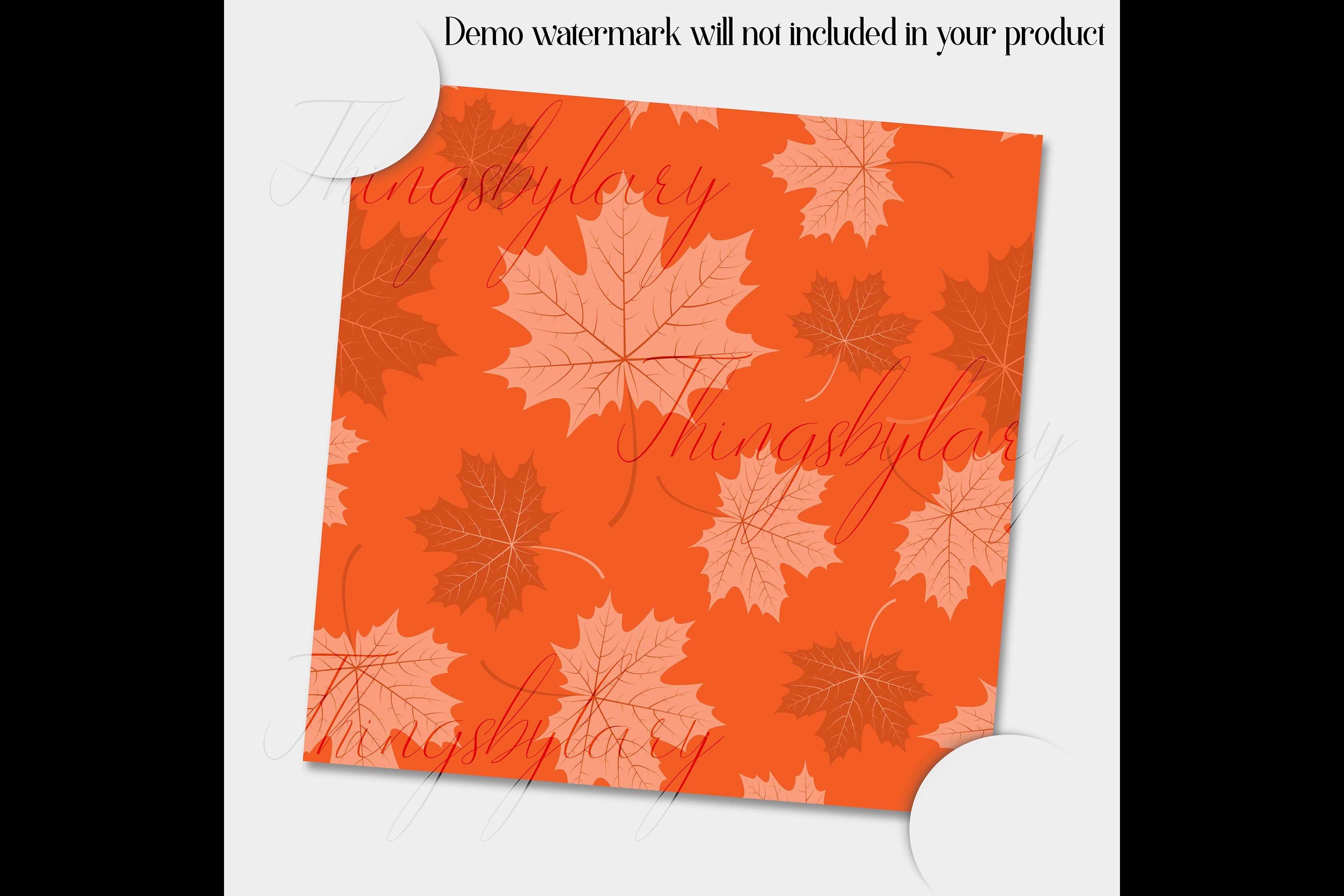 100 Seamless Tinted Autumn Leaves Pattern Digital Papers example image 4