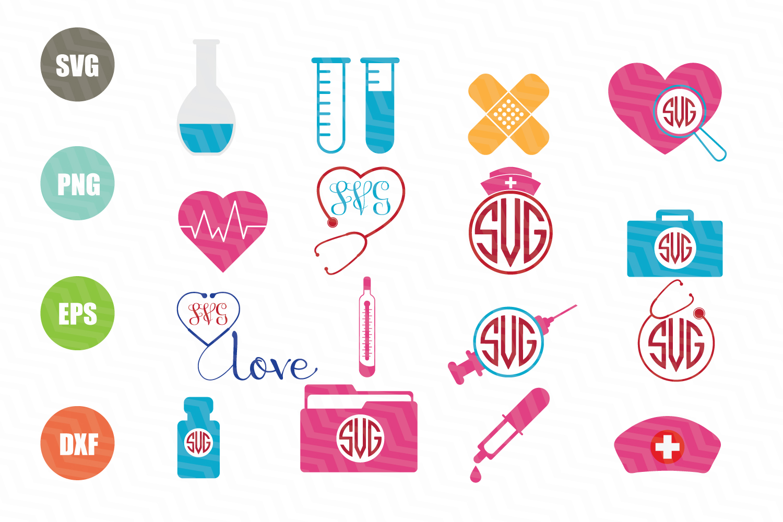 Nurse SVG Bundle example image 1