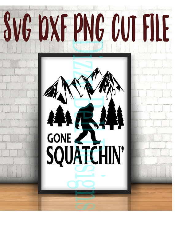 Sasquatch Bigfoot Gone Squatchin' SVG, Outdoors SVG example image 1