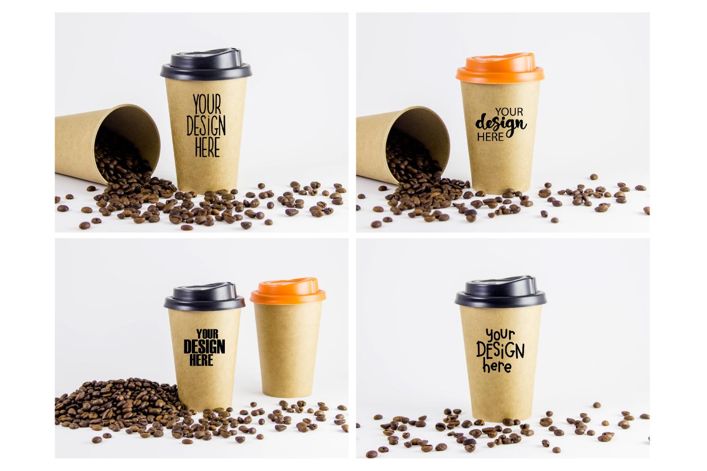 Coffee cup mockup bundle #1, paper coffee cup, mockup bundle example image 3