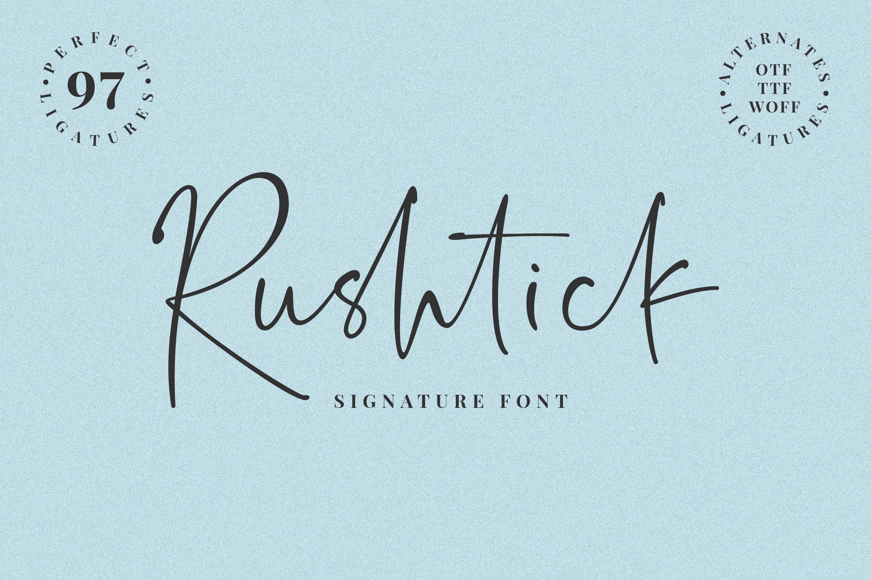 Rushtick Signature Font example image 1