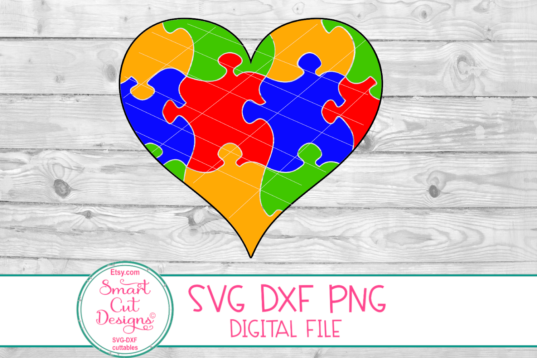 Autism Heart SVG, DXF, Autism, Autism Awareness, Jiigsaw example image 2