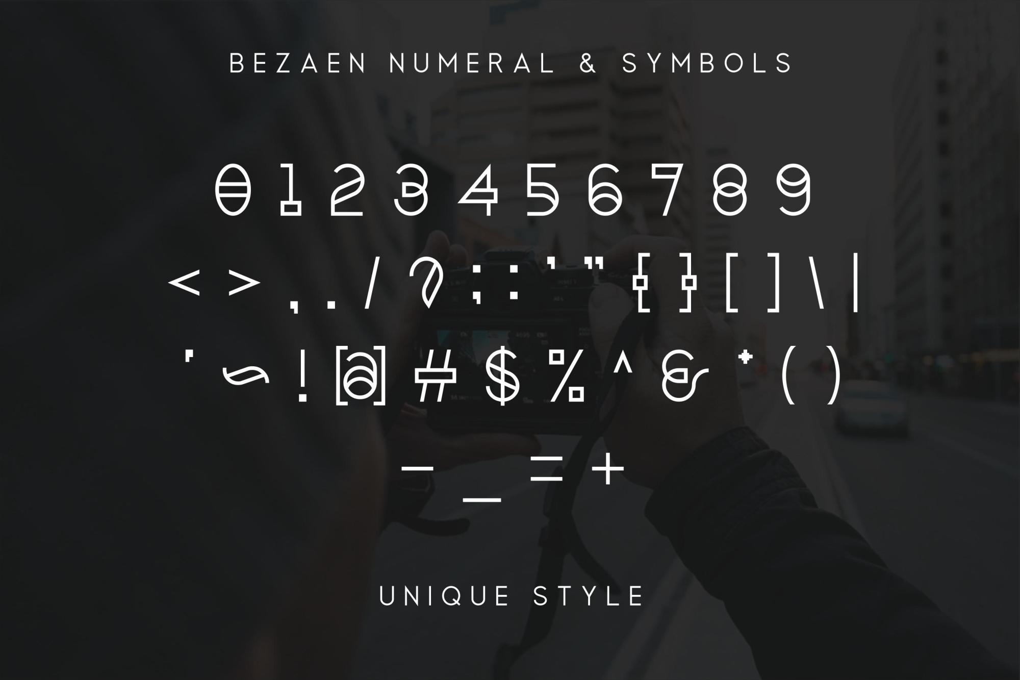 Bezaen Typeface example image 4
