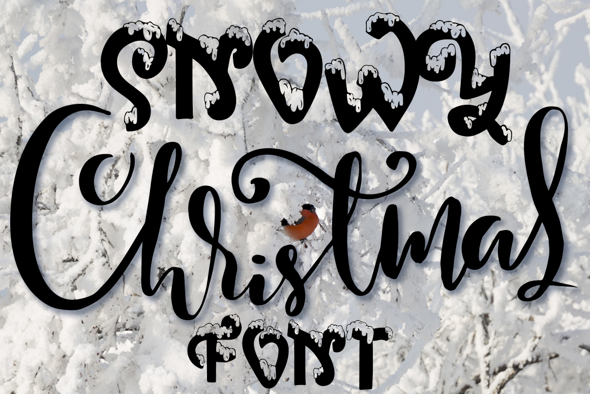 Snow-covered display font example image 1