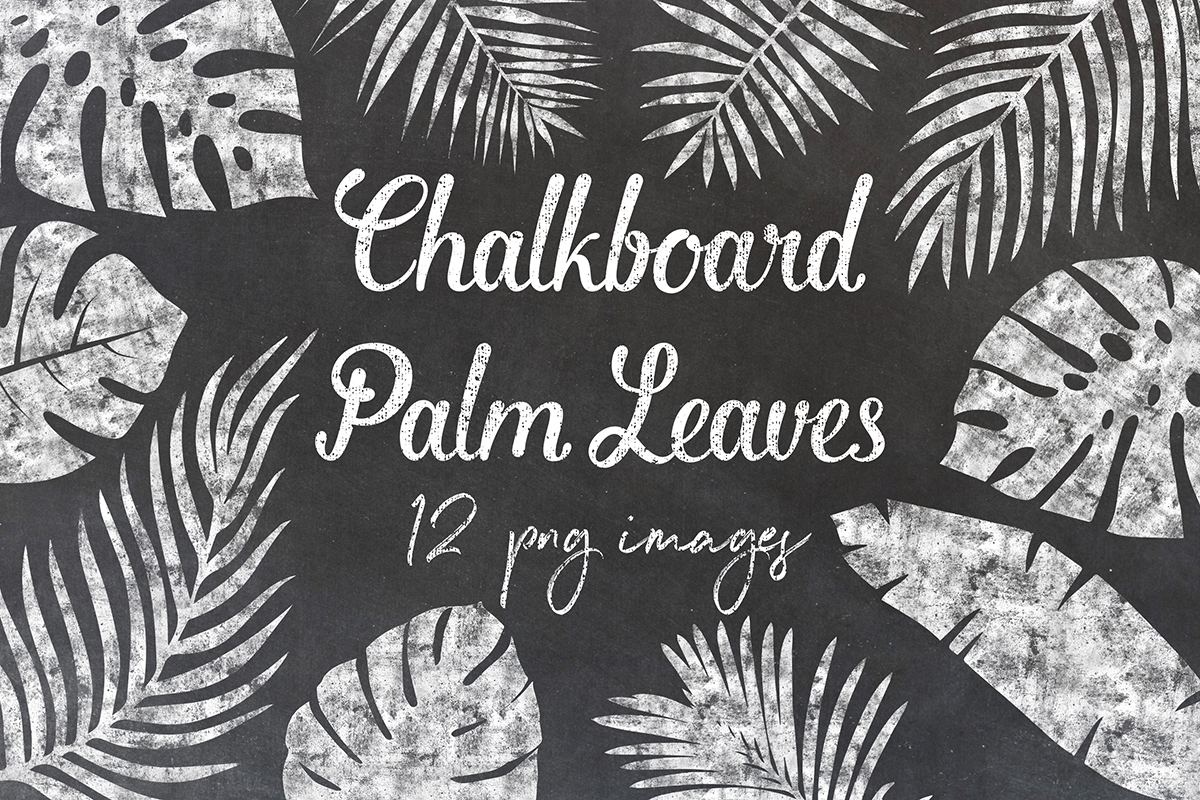 Chalkboard Palm Leaves example image 1