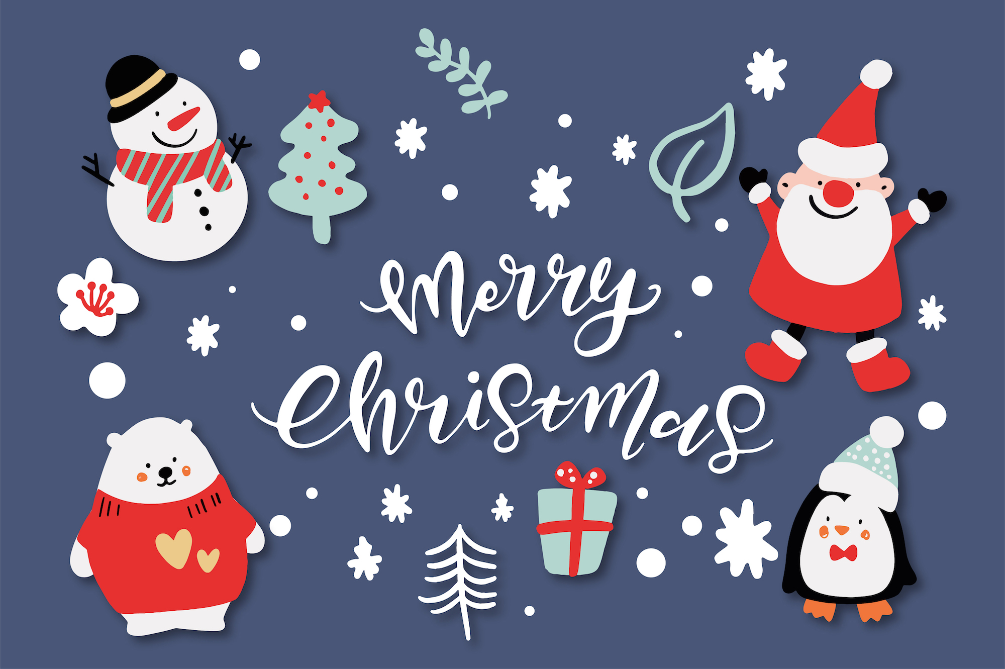 Merry Christmas Characters! example image 1