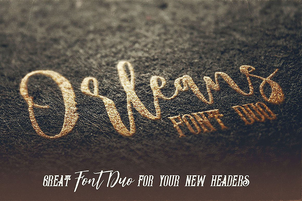 Orleans Script Font Duo example image 4