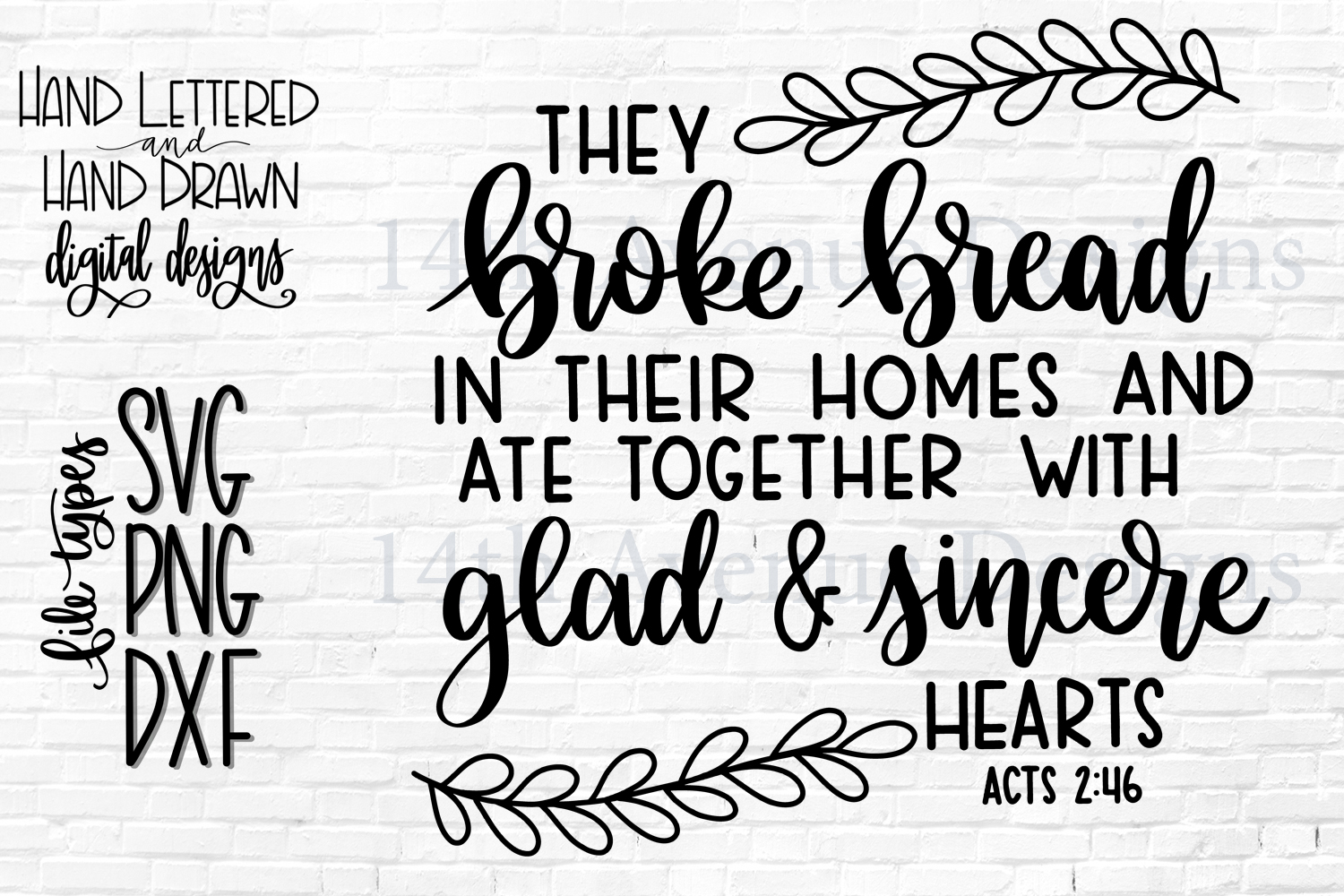 They Broke Bread In Their Homes SVG, Thanksgiving, Gather example image 1