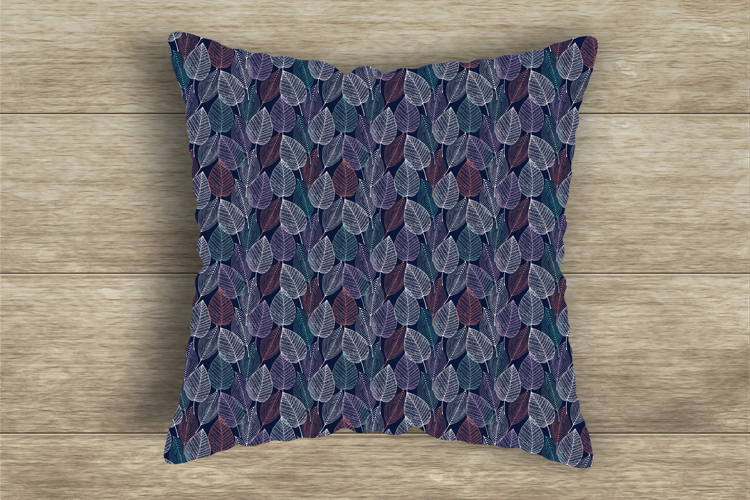 Lacy Skeleton Leaf Patterns Digital Paper Pack example image 5