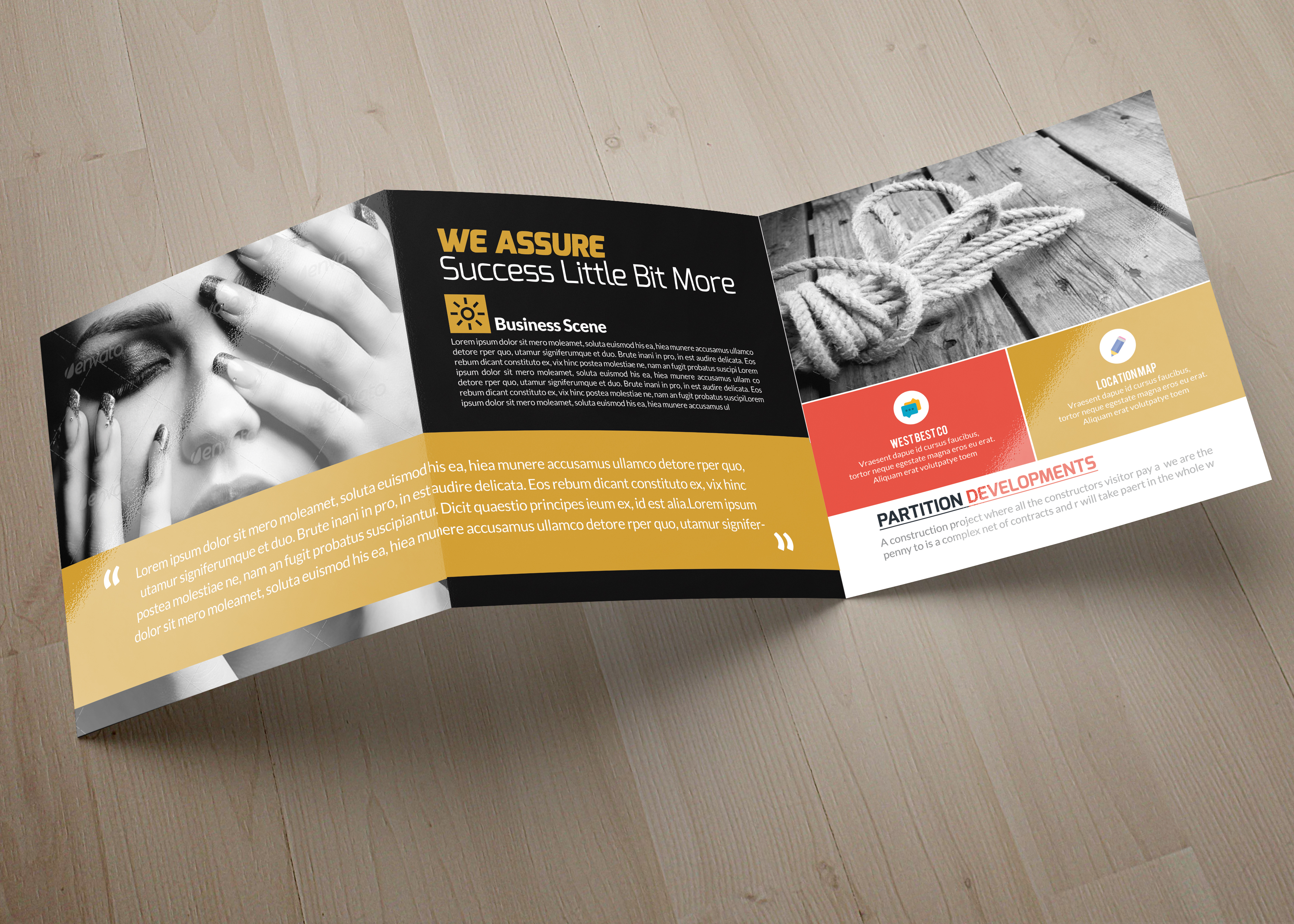 Business Square Trifold Brochure example image 5