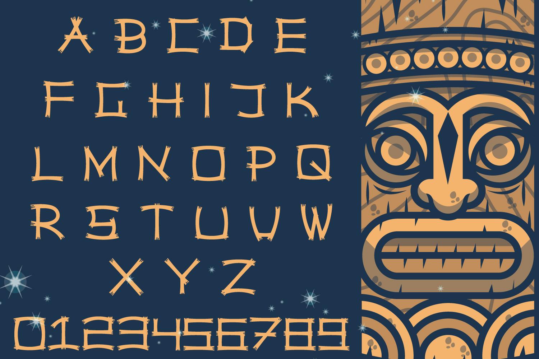 Hawaiian Tiki Island Font example image 2