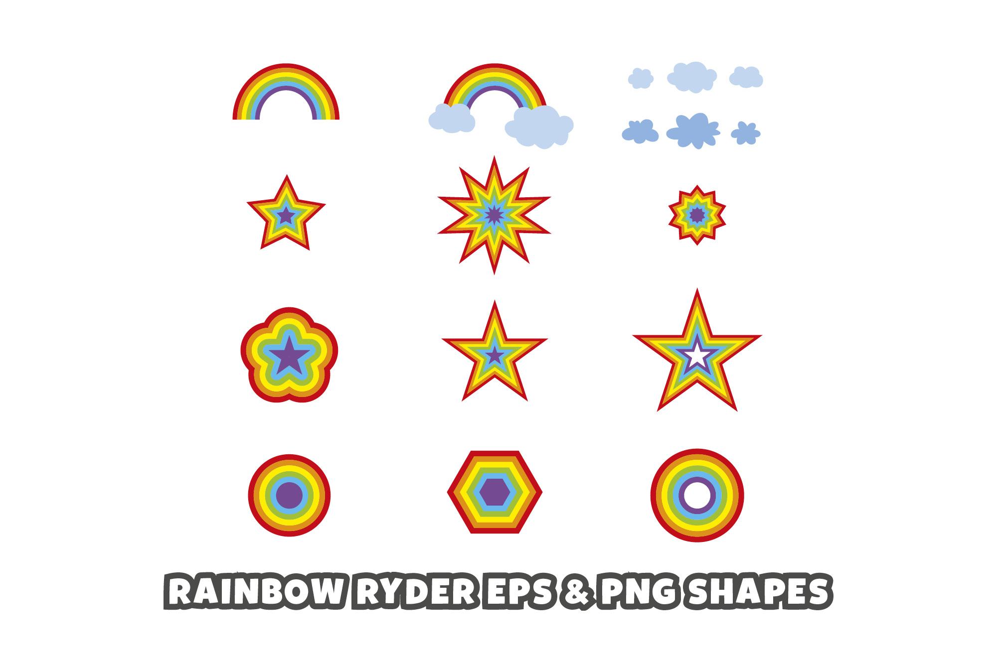 Rainbow Ryder EPS Font example image 8