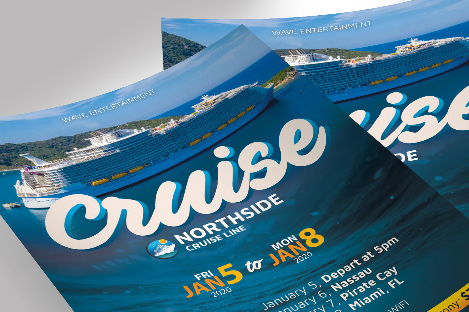 Cruise Travel Flyer Photoshop Template example image 5