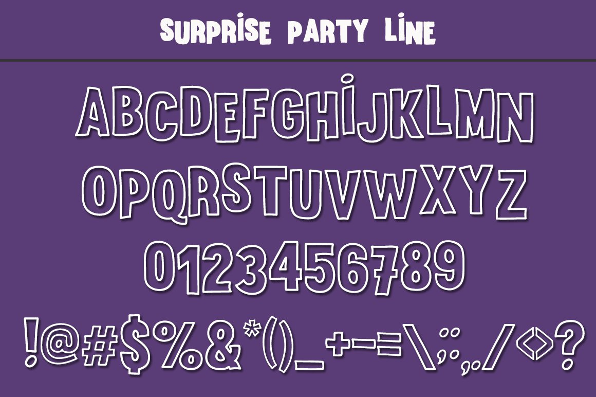 Surprise Party Font Family for Kids, Birthdays and Fun! example image 5