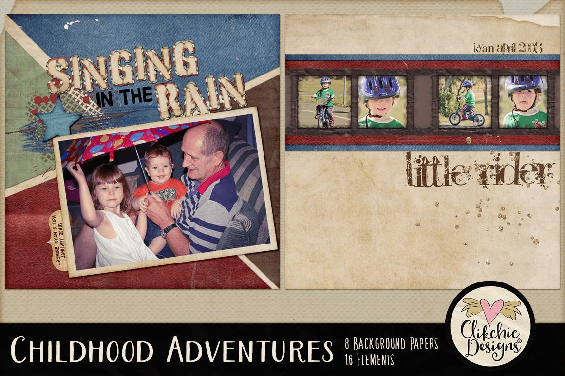 Digital Scrapbook Kit - Childhood Adventures Clipart example image 8