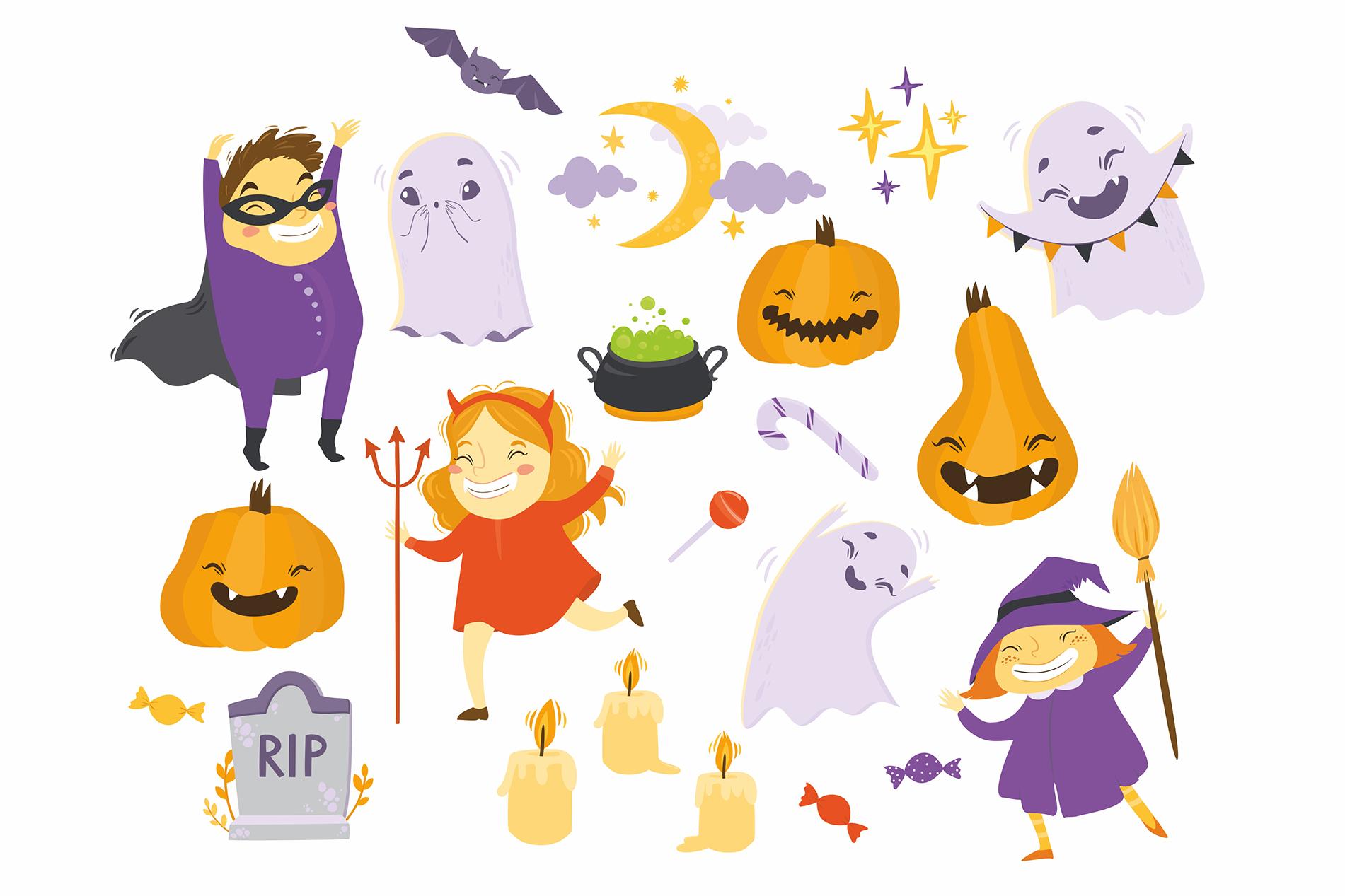 Halloween set. Kids party example image 2