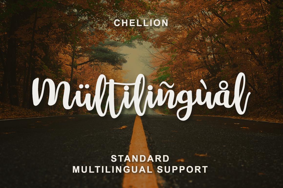Chellion - Script font example image 4
