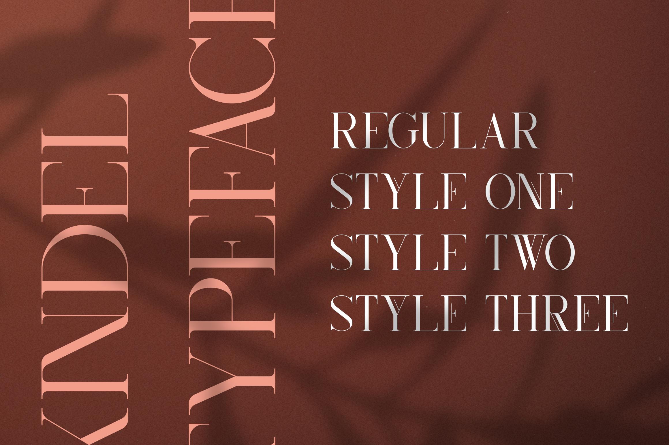 Kindel - Serif Typeface | 4 styles example image 2