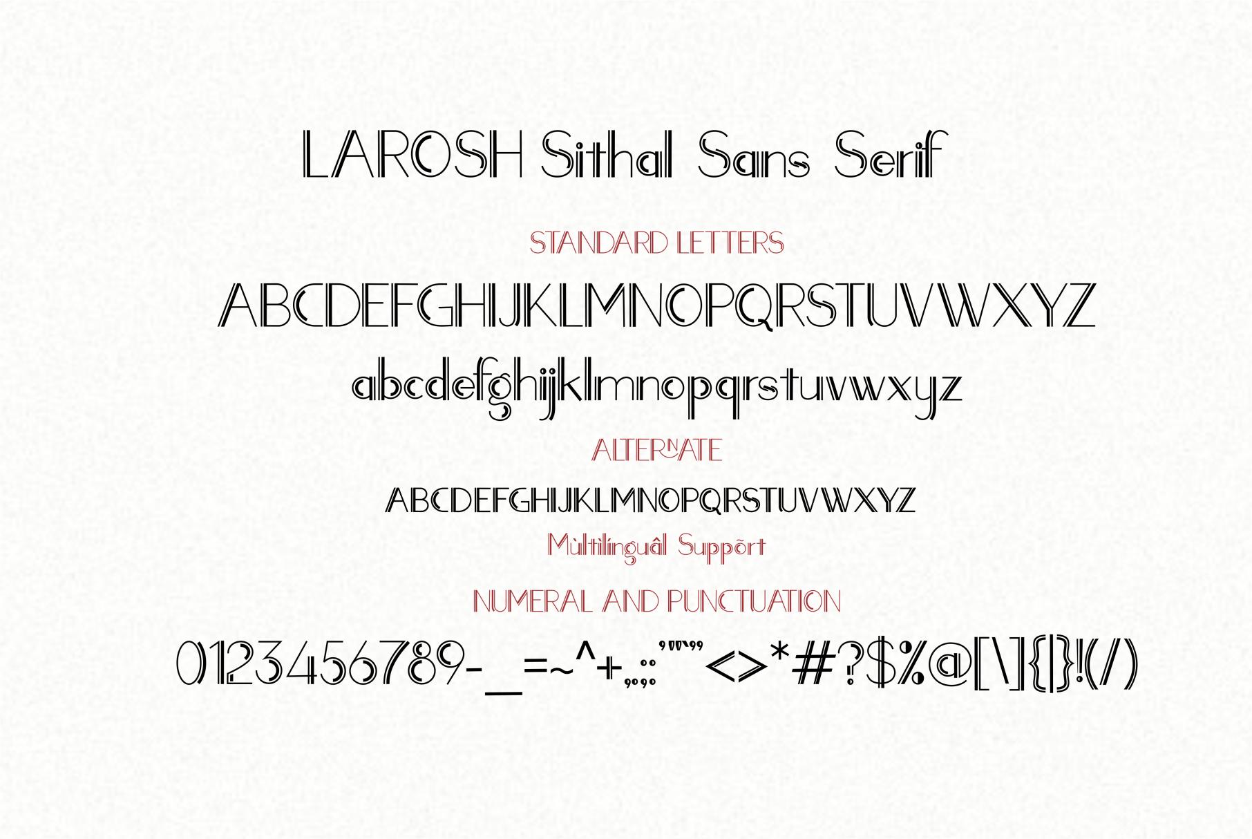 LAROSH Sithal | Font Duo example image 13