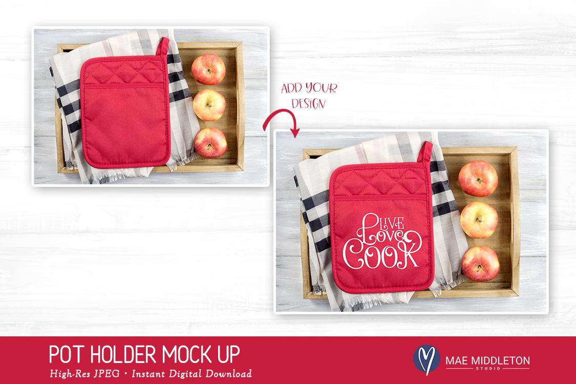Pot Holder Mock up, Fall, Christmas, styled photo JPEG file example image 2