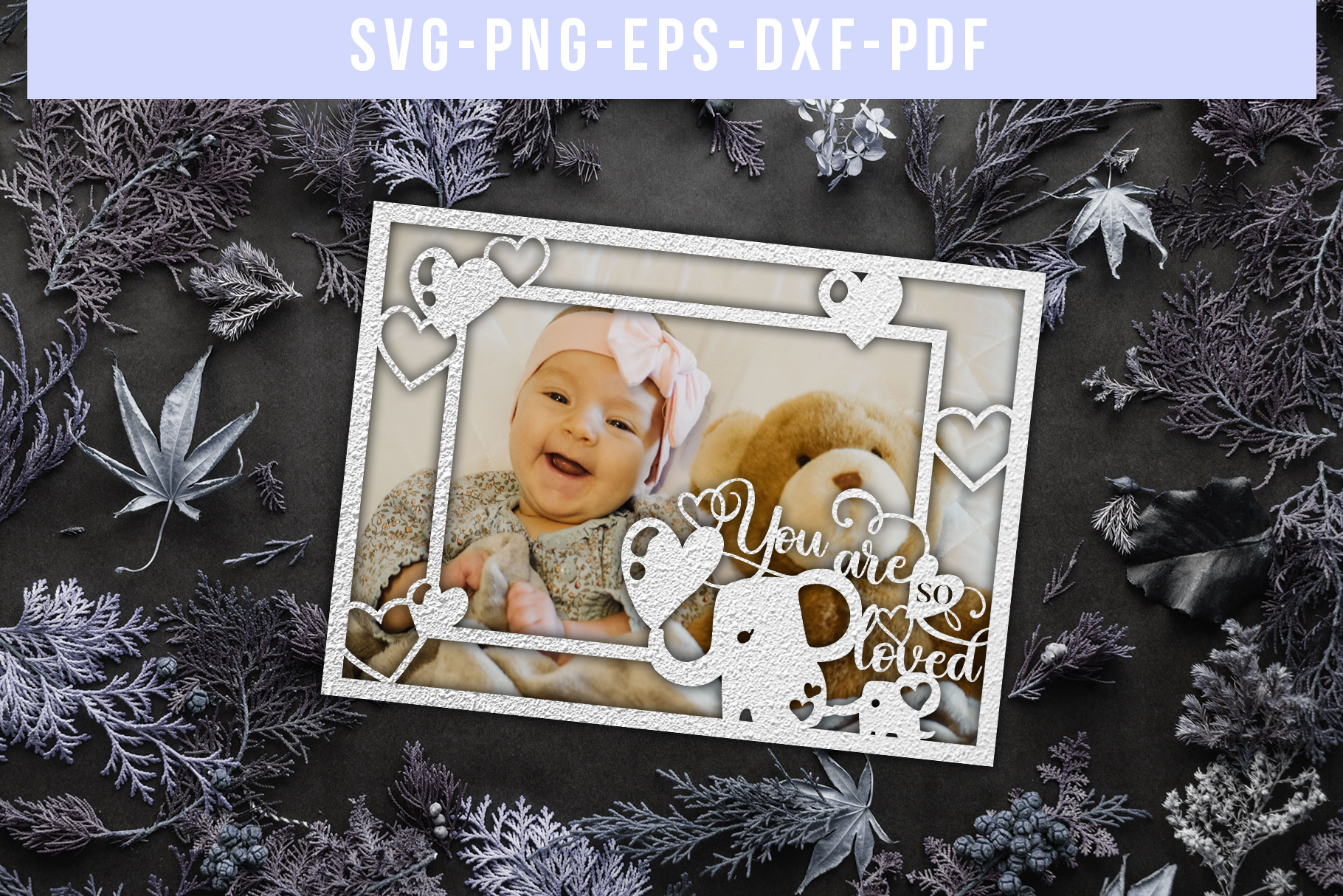 Bundle Of 9 Photo Frame Papercut Templates, SVG, DXF. PDF example image 3