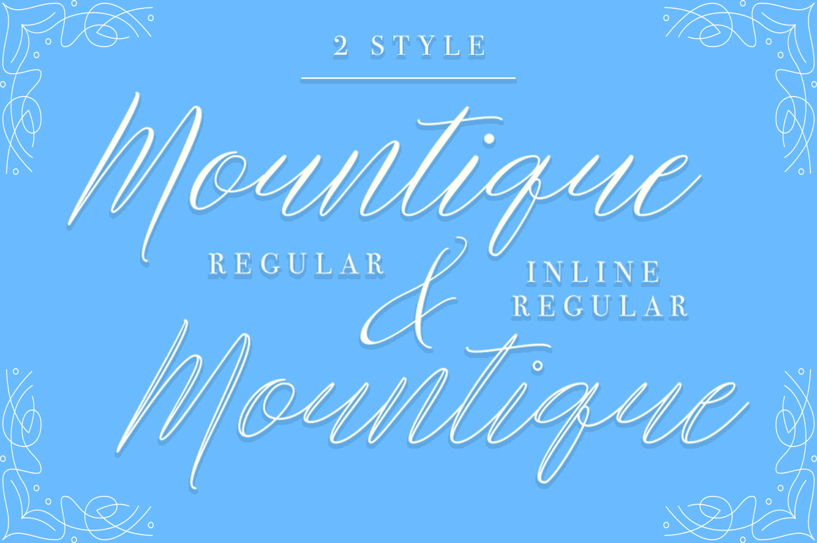 Mountique Typeface example image 2