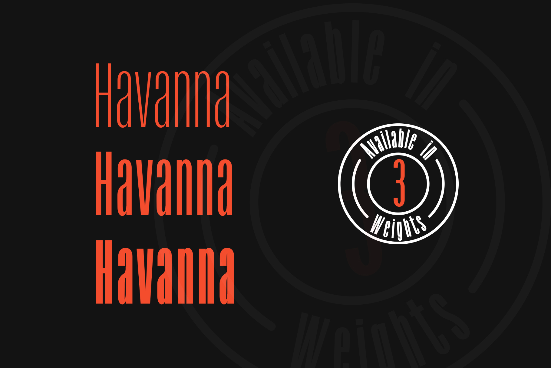 Havanna - Tall sans typeface with 3 weights example image 3
