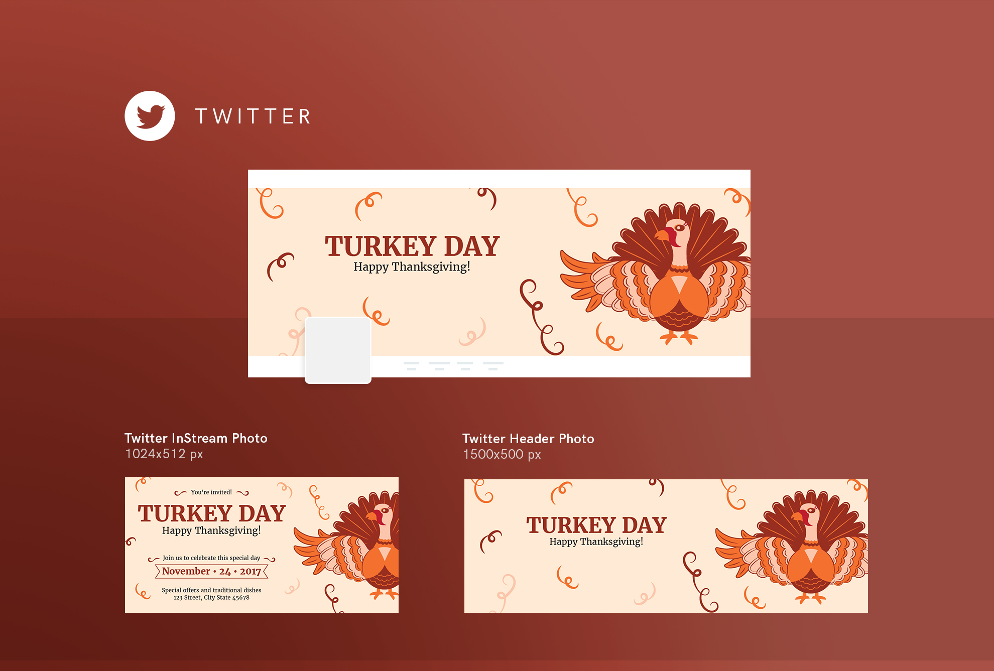 Thanksgiving Celebration Design Templates Bundle example image 10