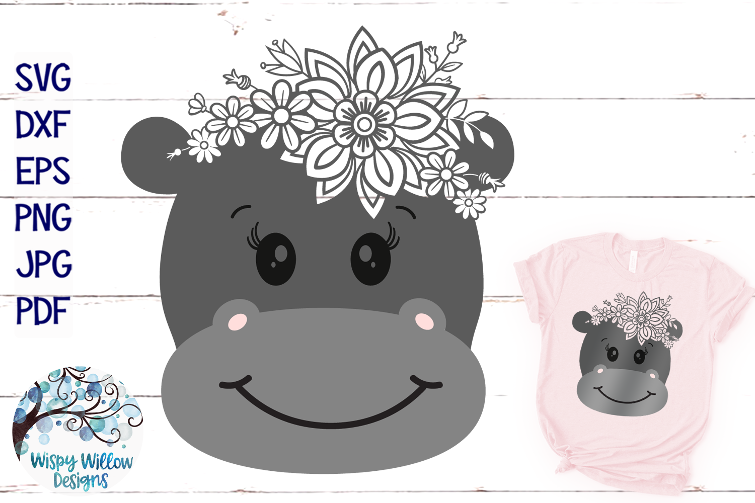 Pretty Animal SVG Bundle | Floral Animal Faces SVG Cut Files example image 11